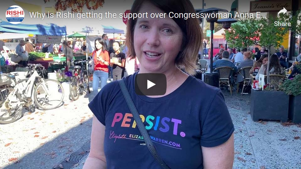 Why is Rishi getting support over Congresswoman Anna Eshoo
