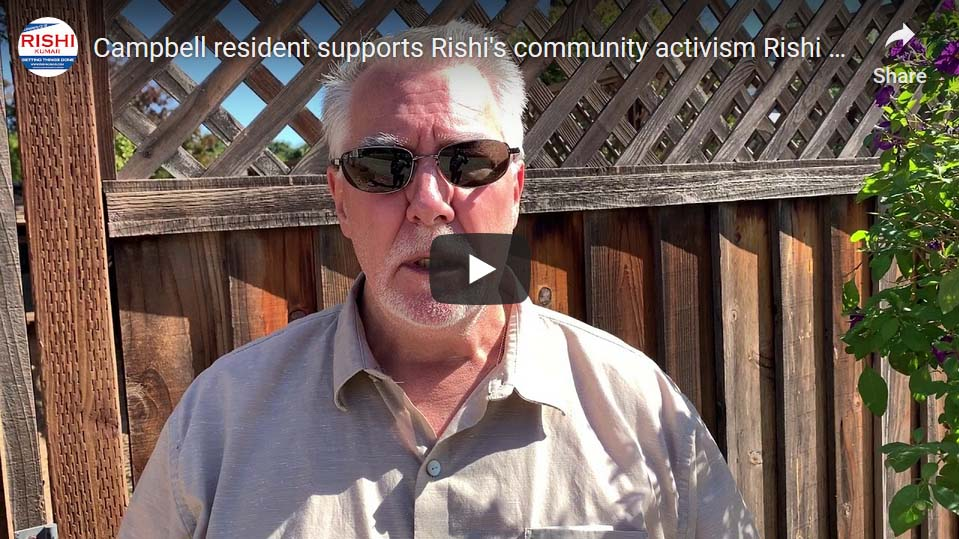 Campbell resident supports Rishi's community activism