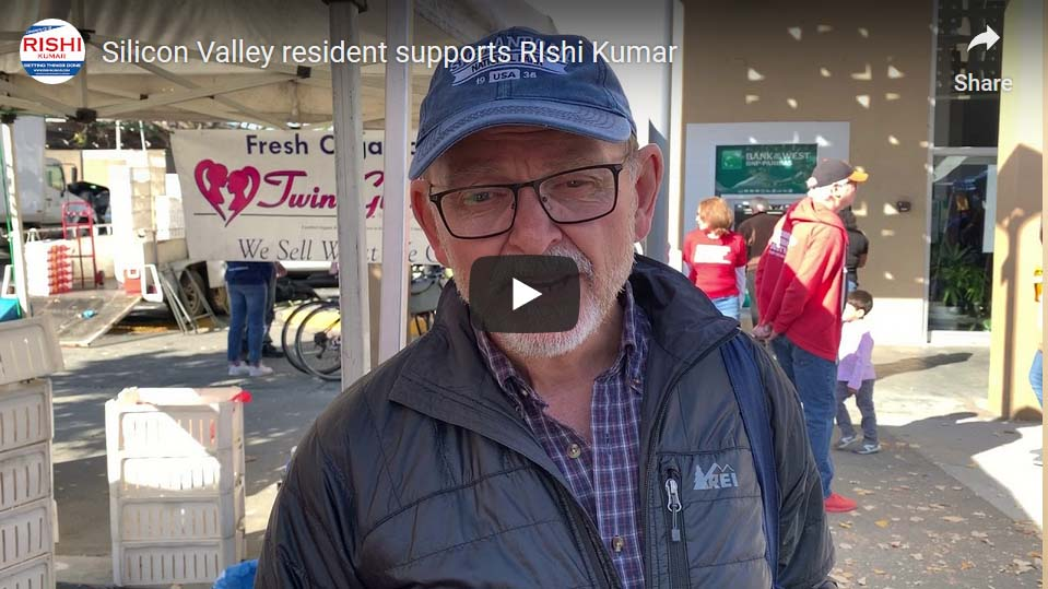 Silicon Valley resident supports Rishi Kumar
